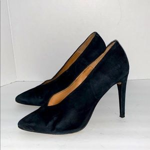 French Connection Suede Black Pumps